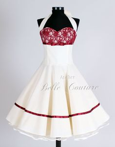 50s wedding dress item: Marie II short by atelierbellecouture