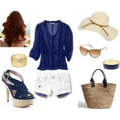 Summer chic... Love this.. but again.. a different shoe!!!