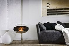 Cocoon fireplace