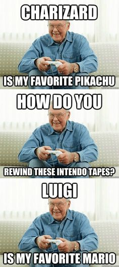 Video game grandpa gaming meme. #gaming #videogames #memes #videogamememe #humor #comedy #lulz #funnymeme