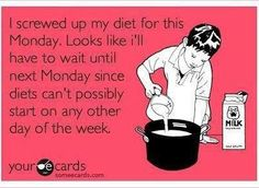 Mondays... and diets!