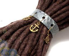 Leather dreadlock cuff. Dreadlock accessory by FoamBubbles, $25.00