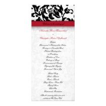 Damask Delight Wedding Program Personalized Rack Card