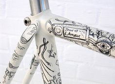 Illustrated Fixed Gear by Eisenherz-Bikes on Flickr.