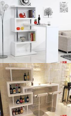 Top 16 Most Practical Space Saving Furniture Designs For Small Kitchen Home Bar Furniture, Space Saving Furniture, Furniture Design, Furniture Ideas, Küchen Design, House Design, Deco Boheme Chic, Diy Home Decor, Room Decor