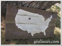 DIY United States Hand painted Sign