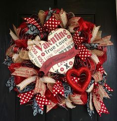 A personal favorite from my Etsy shop https://www.etsy.com/listing/261514152/valentines-burlap-wreathvalentines-deco