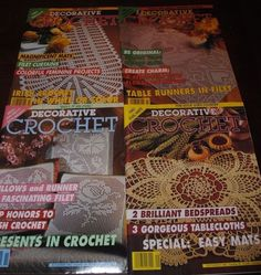 Lot 4 DECORATIVE CROCHET Patterns Back Issues March July Sept Nov 1993 #DecorativeCrochet