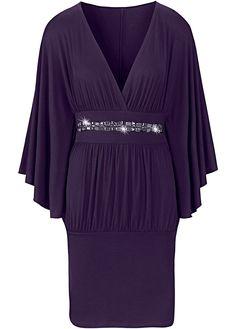 Vestido de malha roxo encomendar agora na loja on-line bonprix.de  R$ 79,90 a partir de Com decote profundo, mangas morcego largas e barra estreita que ...