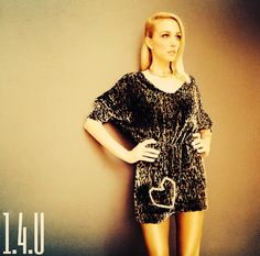 Velvet animal print dress ... Hand Embellished with Swarovski Crystals from the Limited Edition by 1.4.U !!!