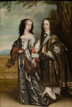 William II, Prince of Orange and Mary Henrietta Stuart, By Gerard van Honthorst Charles Ii Of England, Queen Of England, 17th Century Fashion, 17th Century Art, Nassau, British History, Art History, Henrietta Maria, House Of Stuart
