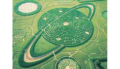 We were very intrigued by pictures of this tiny house in the middle of a maze. Turns out the labyrinth was created from corn in Cordes-sur-Ciel, France, by Labyrinthus, in 1999.