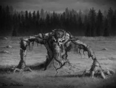 Forest Spirit Sends Disease Creature by TeroPorthan on DeviantArt Horror Music, Horror Art, Old Folks, Nature Spirits, Best Horrors, Mystery Series, Akita, Horror Stories, Macabre