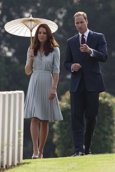 Pin for Later: The 70 Best Kate Middleton Moments of All Time  In September 2012, Kate and William visited the Kranji Commonwealth War Cemetery in Singapore during their Asia tour.
