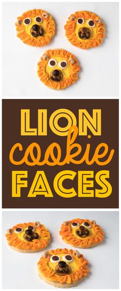 Animal Face Cookies