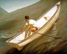 Bo Bartlett - Lifeboat, 1998 - Oil on Linen - 80 x 100