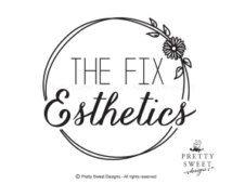 Esthetics logo, Black and white, skin care logo, daisy logo, logo for salon, daisy illustration, skin care branding