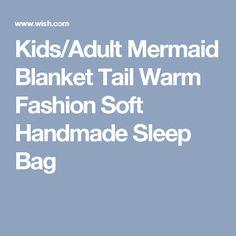 Kids/Adult Mermaid Blanket Tail Warm Fashion Soft Handmade Sleep Bag