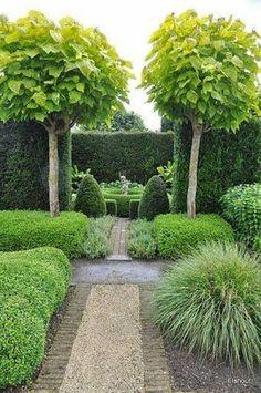 Modern garden design ideas, including contemporary paving, fences, plants & patio furniture. #GardenDesign #Landscaping #Backyard #Gardening