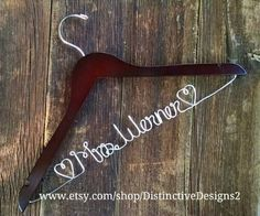 Personalized Hanger Bride Hanger Wedding by DistinctiveDesigns2