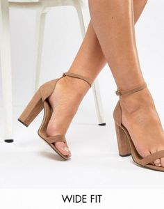 Shop ASOS DESIGN Wide Fit Highball barely there heeled sandals at ASOS. Discover fashion online.