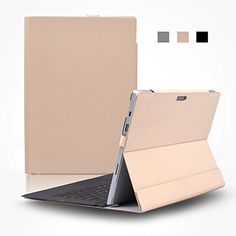 very cool  D-park® Detachable Slim Imported Composite Velcro Skin Case With Creative Folding Stand Holder for Microsoft Surface Pro 3/Pro 4 12-inch Tablet (Pro 4 Nude)