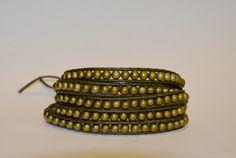 Brass coloured multi-wrap bracelet