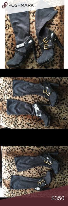 Michael Kors Heeled Boots with Buckles Sexy and fun, these brand new and never worn easy to wear designer boots could be casual or for a night out! Beautiful yet sensible, you can dance the night away without wanting to take these off! Michael Kors Shoes Heeled Boots
