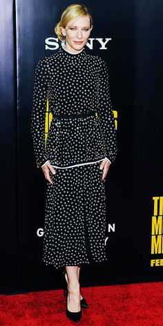 New York premiere of The Monuments Men, Cate Blanchett in Proenza Schouler