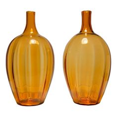Large Blenko amber glass lamps by Joel Philip Myers. Glass Lamps, Glass Art, Blenko Glass, Mid Century Modern Art, Amber Glass, Hand Blown Glass, Mid-century Modern, Table Lamp, Products