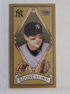 2003 Topps T 205 AARON BOONE #241 Polar Bear Back Mini Card New York Yankees #NewYorkYankees