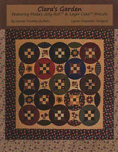 Pattern Booklet: Claras Garden Quilt by Kansas Troubles