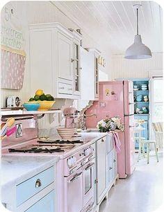 pastel country kitchen fun :)