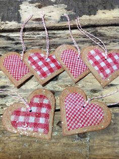 Red and White Gingham Fabric Card Stock
