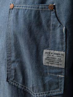 always love a graphic tag Shirts & Tops, Casual Shirts, Indian Men Fashion, Mens Fashion, Jack Jones, Pocket Detail, Denim Shirt, Printed Shirts, Work Wear
