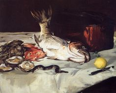 Édouard Manet - Nature morte au poisson