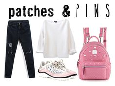 """""""pins and patches"""" by lululafitte ❤ liked on Polyvore featuring MCM, Miu Miu and patchesandpins"""