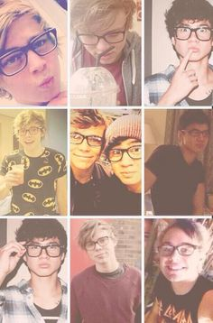 All the boys are incredibly cute in glasses, but I miss when Ashton wore his glasses the most