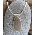 Simple Stone Pendant with Pink-ish Grey Pebble