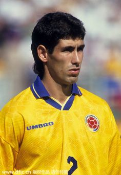 Andrés Escobar (13 Mar 1967 – 2 July 1994) was a Colombian footballer who played as a defender. He played for Atlético Nacional, BSC Young Boys, and the Colombia national team. Escobar was murdered in the aftermath of the 1994 FIFA World Cup, reportedly as punishment for having scored an own goal which contributed to the team's elimination from the tournament.