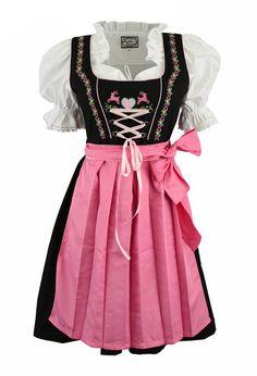 3pcs. Dirndl Happy Moment with pink blouse and Schuerze: Amazon.de: Clothing