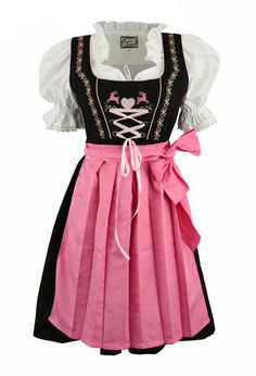 3pcs. Dirndl Happy Moment with pink blouse and Schuerze: Amazon.de: Clothing