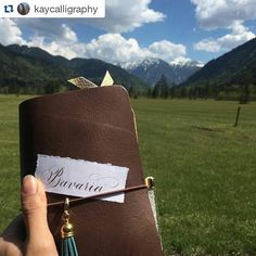 For wanderlust wednesday we have the foothills of the Bavarian Alps paired with Copperplate calligraphy! Calligrascape by @kaycalligraphy.  #calligrascape #calligraphy #lettering #wanderlust #explore #travel #traveling #handlettering #flourishforum #vacation #visiting #traveler #instagood #trip #holiday #photooftheday #fun #travelling #tourism #tourist #instapassport #mountains #adventure #bavaria #copperplate #wanderlustwednesday #ilove #beautiful #nature #landscape