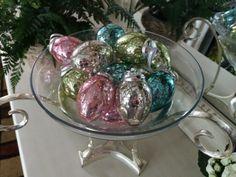 Set of 12 Mercury Glass Egg Ornaments H202258   http://qvc.co/-Shop-ValerieParrHill