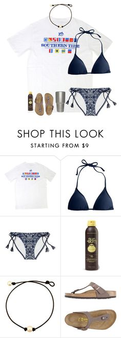 """Rtd"" by lacrosse-19 ❤ liked on Polyvore featuring Southern Tide, J.Crew, Sun Bum and Birkenstock"