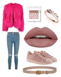"""Mannequin"" by karikshelle on Polyvore featuring moda, RE/DONE, Boohoo, adidas Originals, Bobbi Brown Cosmetics y Gucci"