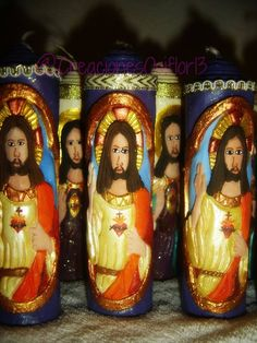 Bonito #CorazóndeJesús tallado y pintado!.... #velonestallados