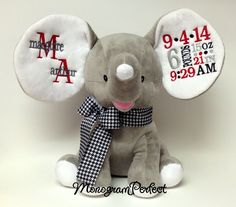 Monogram baby elephants!