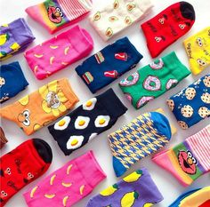 Funky Socks, Crazy Socks, Cute Socks, Colorful Socks, Silly Socks, Happy Socks, Cartoon Banana, Food Socks, Velvet Socks