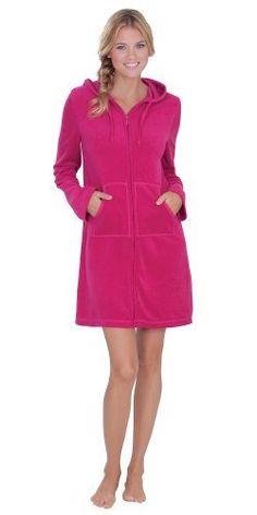 Cotton Terry Hoodie - Berry The Pajamagram Company. $49.99